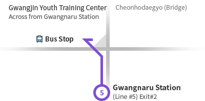 Gwangnaru Station (Line #5) Rough Map